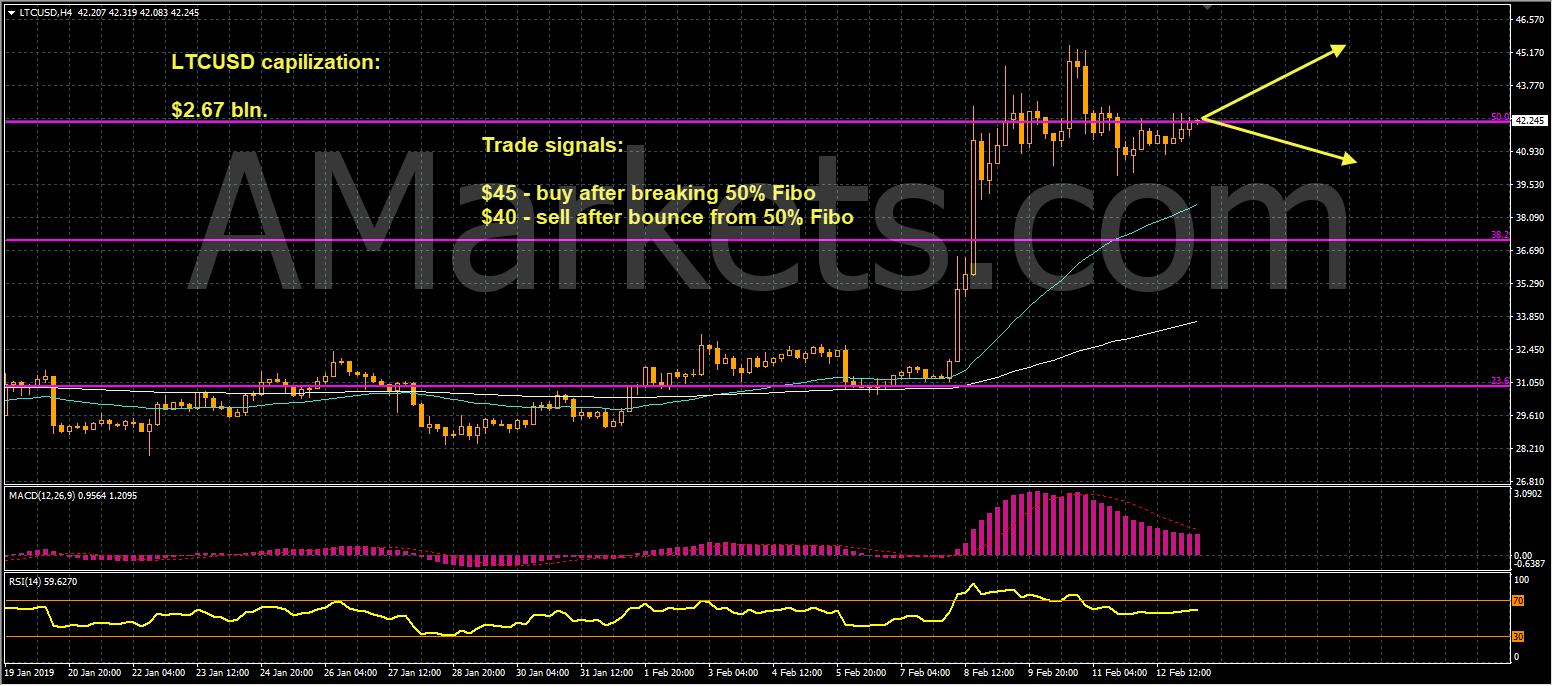LTCUSD price chart - 13.02.2019
